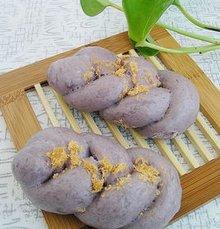 紫薯肉松麻花卷