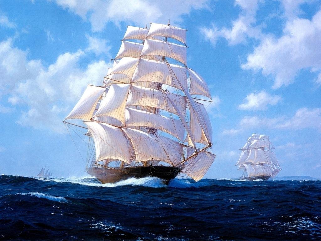 帆船起源于欧洲,其历史可以追溯到远古时代.图片