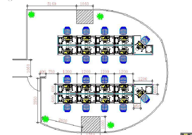 设计图分享 团委办公室设计图 > 办公室设计  办公室设计 宽1140×751