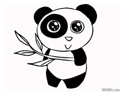 怎样画可爱熊猫