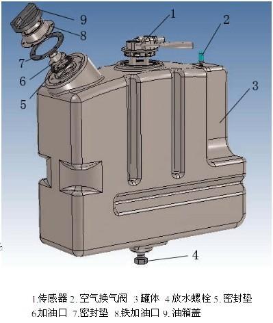 容积:10-50l 适合发动机:康明斯,玉柴,潍柴,上柴,锡柴 罐上配件:液位