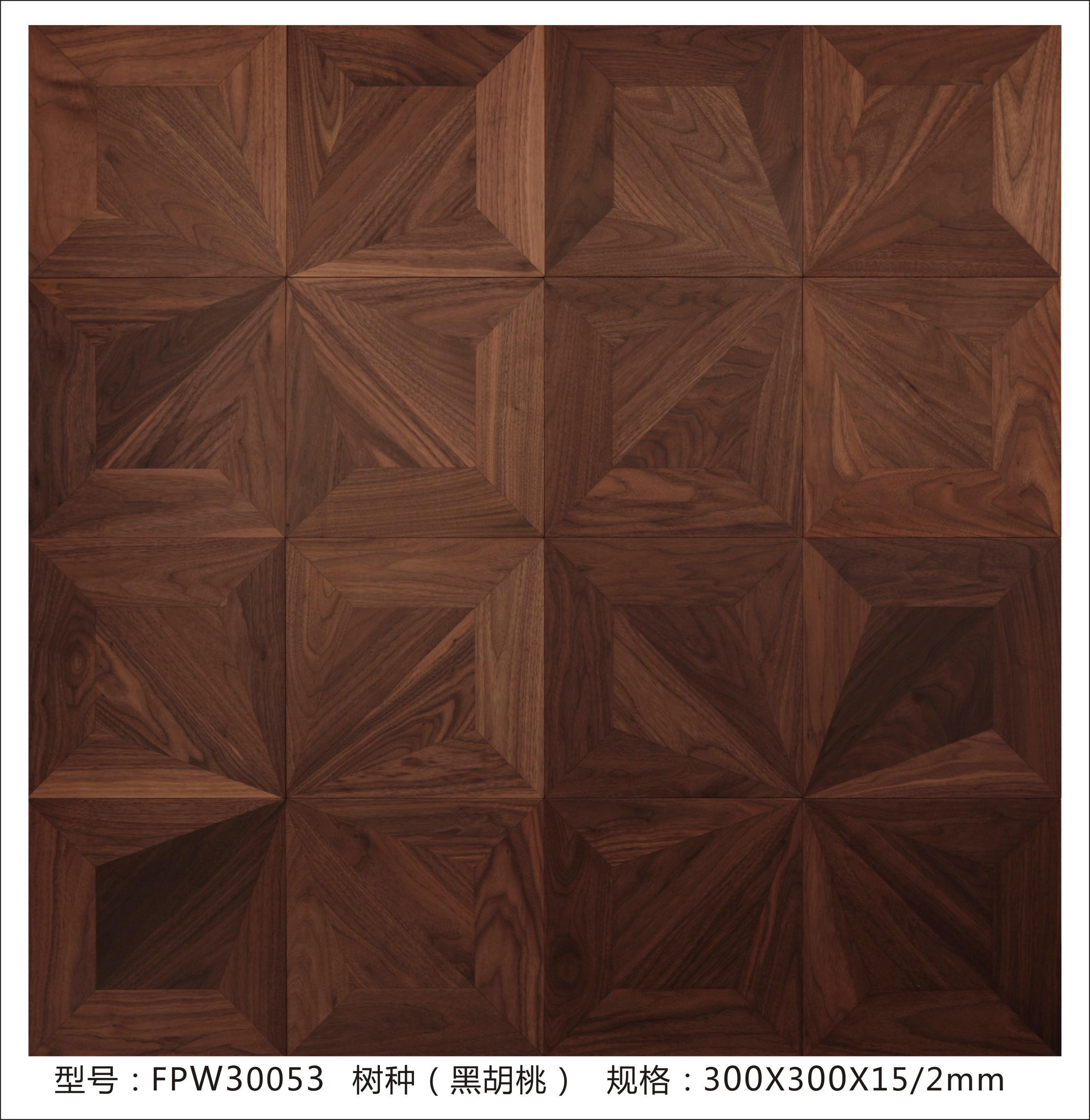 艺术拼花木地板表面的花纹经过设计拼花而成,其外形极具艺术感,也颇有