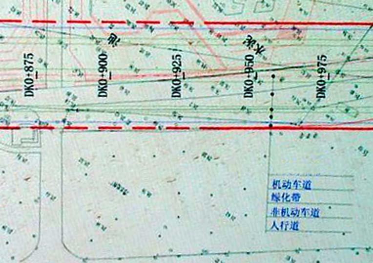 地图上道路标示