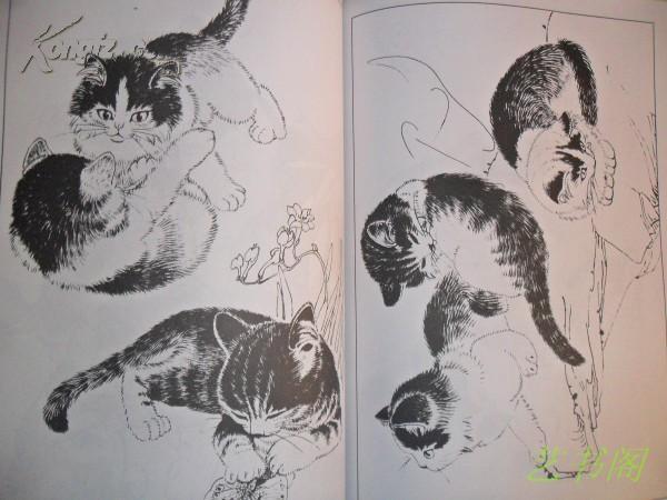 简笔画漫画教程小猫吠