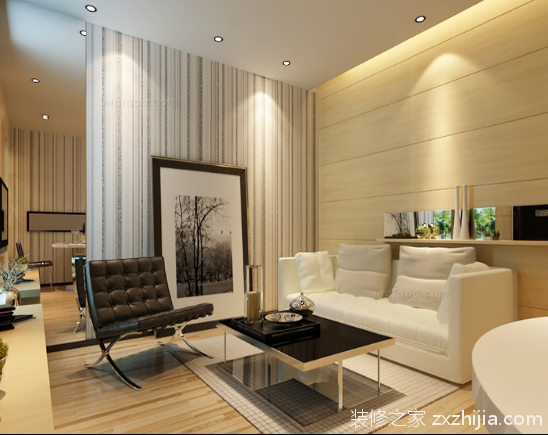 简约风格小户型设计 一室一厅52平米装修案例