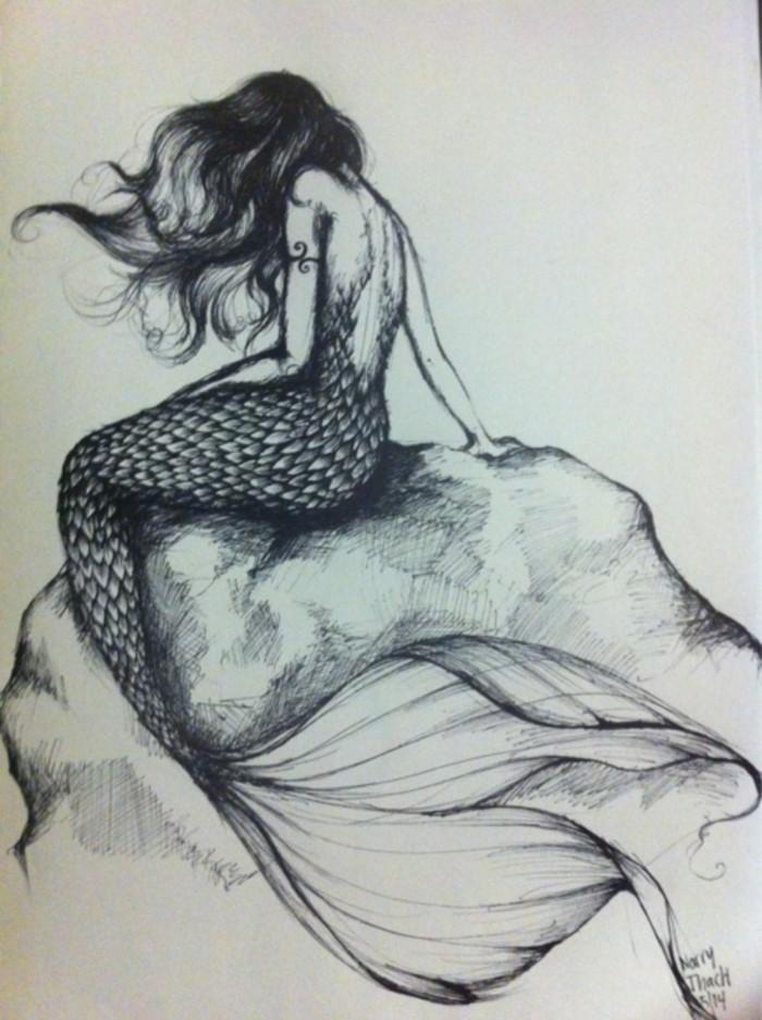 古典手绘美人鱼壁纸