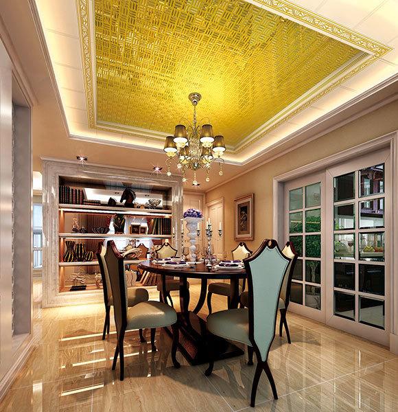 欧式风格别墅装修餐厅吊顶应该如何设计?