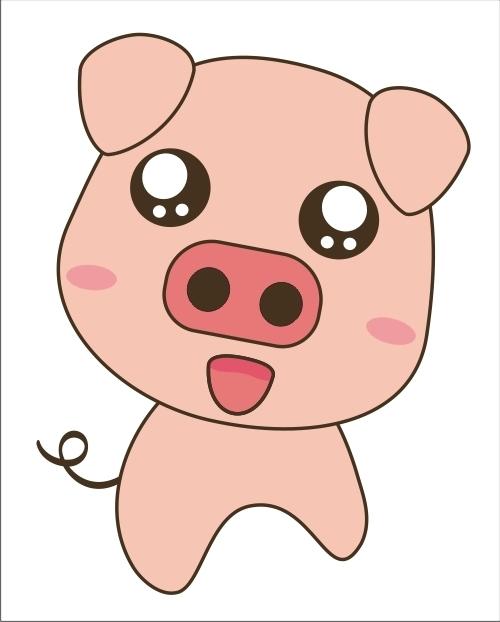如何画一只可爱的小猪