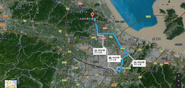 邱隘到镇海九龙湖风景区路程怎么走