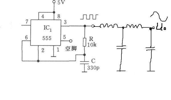 求一张 采用指定芯片:ne555(时基电路)和tl082(运算放大器),±5v直流