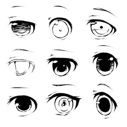 二次元漫画眼睛怎么画