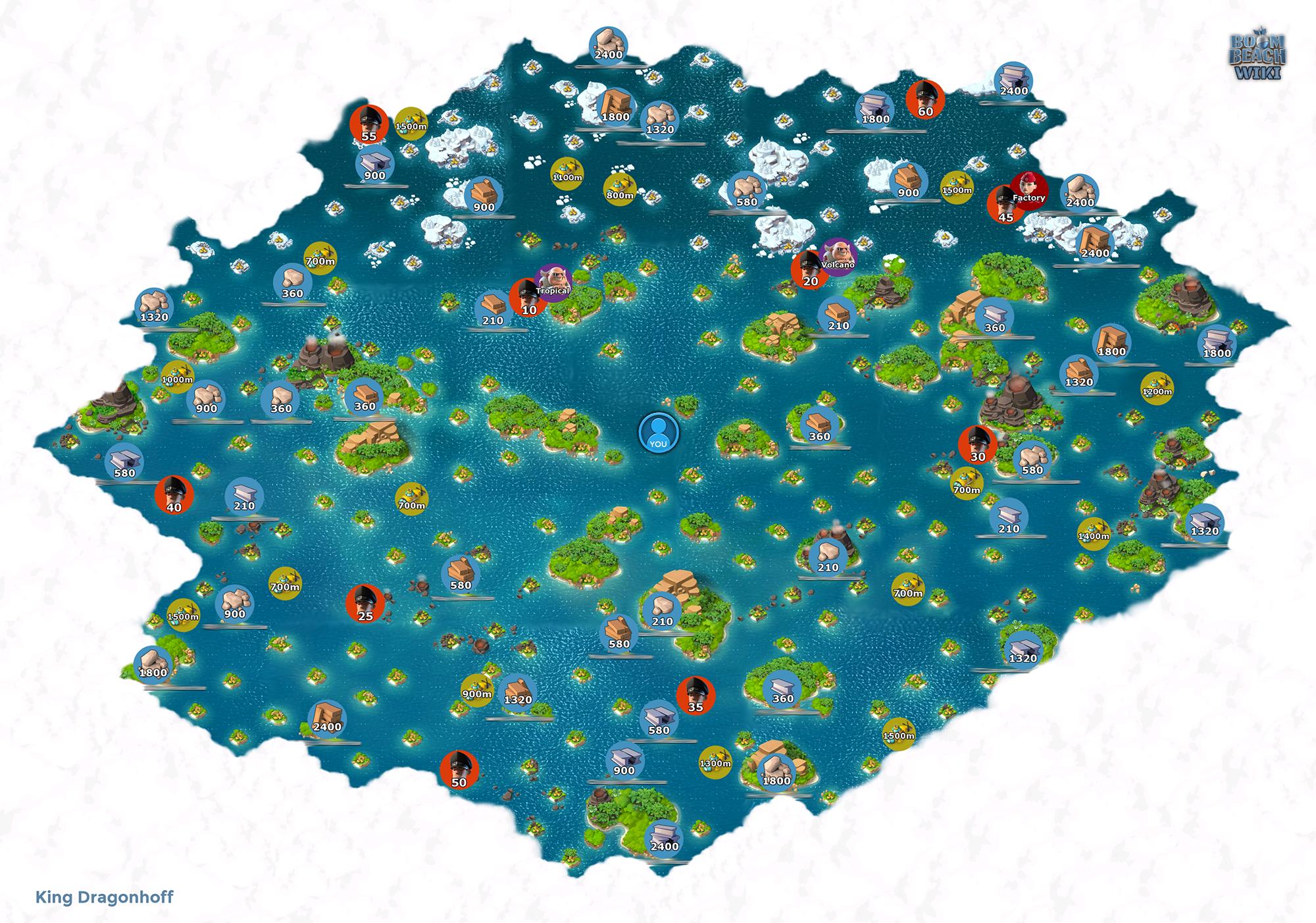 果断收藏!《海岛奇兵》最新最全大地图
