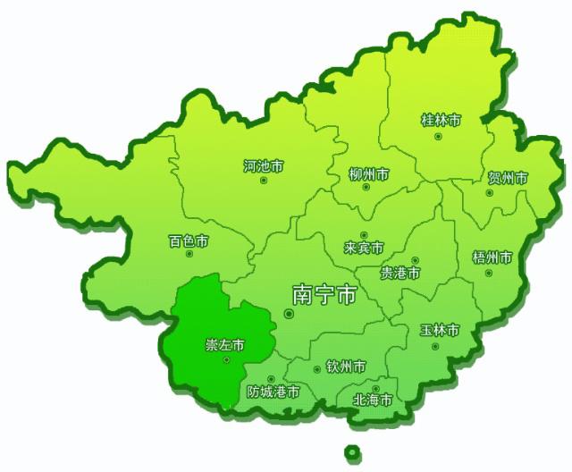 崇左市位置地图